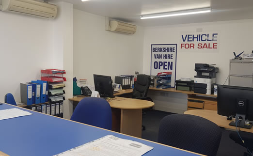 Van Hire Reading Office Interior